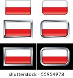 polish flag buttons | Shutterstock .eps vector #55954978