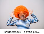 little girl clown | Shutterstock . vector #559551262