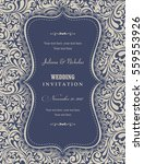 wedding invitation cards in an... | Shutterstock .eps vector #559553926