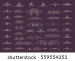 vintage decor elements and... | Shutterstock .eps vector #559554352