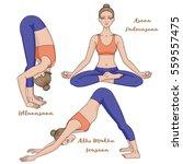 women silhouette. yoga lotus...   Shutterstock .eps vector #559557475
