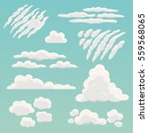 cartoon clouds collection.... | Shutterstock .eps vector #559568065