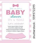 baby girl shower invitation... | Shutterstock .eps vector #559572295