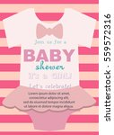 baby girl shower invitation... | Shutterstock .eps vector #559572316