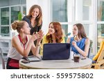 group of four pretty... | Shutterstock . vector #559575802