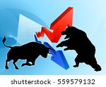 a silhouette bear fighting a... | Shutterstock .eps vector #559579132