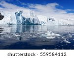 travel among the antarctic ices.... | Shutterstock . vector #559584112