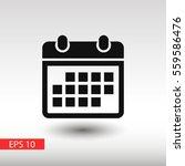 calendar icon  | Shutterstock .eps vector #559586476