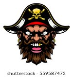 a mean looking cartoon pirate... | Shutterstock . vector #559587472