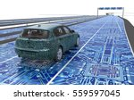self driving electronic... | Shutterstock . vector #559597045