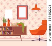 retro interior  wall frame for... | Shutterstock .eps vector #559602226