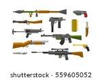 flat weapons vector. | Shutterstock .eps vector #559605052