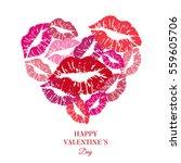 heart full of kisses. greeting... | Shutterstock .eps vector #559605706