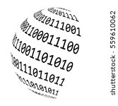 binary code globe vector symbol ... | Shutterstock .eps vector #559610062