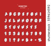 isometric design style font.... | Shutterstock .eps vector #559614592