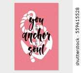 you are the anchor to my soul....   Shutterstock .eps vector #559615528