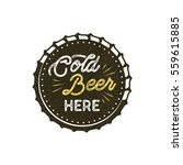 vintage style beer badge. ink... | Shutterstock .eps vector #559615885