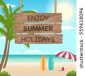 vector summer holiday background | Shutterstock .eps vector #559618096