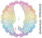 women silhouette. uttanasana ...   Shutterstock .eps vector #559618132