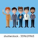 cartoon men business fashion...   Shutterstock .eps vector #559619965