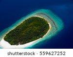 aerial view to green desert... | Shutterstock . vector #559627252
