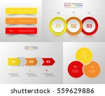 vector infographic set.... | Shutterstock .eps vector #559629886