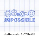 impossible  possible text with... | Shutterstock .eps vector #559637698