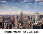 new york city skyline with... | Shutterstock . vector #559638136