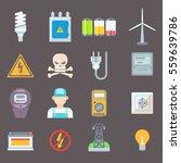 Energy And Resource Icon Set...