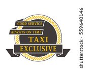taxi badge vector illustration. | Shutterstock .eps vector #559640146