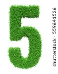 green grass number 5  isolated... | Shutterstock . vector #559641526