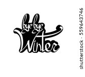 bye bye winter  isolated... | Shutterstock .eps vector #559643746