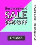 social media sale banner and... | Shutterstock .eps vector #559653928