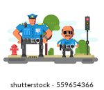 police companions characters | Shutterstock .eps vector #559654366