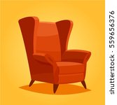 vintage cozy home chair. | Shutterstock .eps vector #559656376