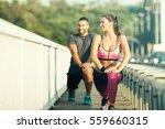 Happy Couple Exercising...