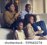 african descent family house... | Shutterstock . vector #559663276