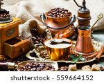 coffee in the oriental style... | Shutterstock . vector #559664152