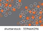 hexagons seamless pattern... | Shutterstock .eps vector #559664296