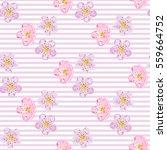 Seamless Sakura Blossom Patter...