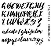 hand drawn font made by dry... | Shutterstock .eps vector #559667575