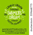 farmer's dream. hand drawn... | Shutterstock .eps vector #559668775