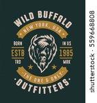 wild buffalo new york usa... | Shutterstock .eps vector #559668808