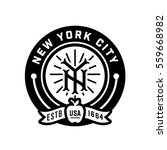 new york city vintage monogram... | Shutterstock .eps vector #559668982