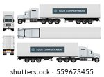 cargo container truck template... | Shutterstock .eps vector #559673455