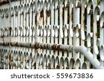 rusty metal gate fence of... | Shutterstock . vector #559673836
