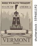 Vermont Vector American Poster...