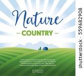 rural landscape with hills  sky ... | Shutterstock .eps vector #559682908