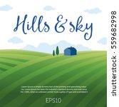 rural landscape with hills  sky ... | Shutterstock .eps vector #559682998