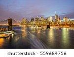 Brooklyn Bridge And Downtown...